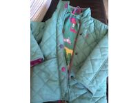 Joules girls coat age 4