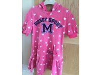 Pink Disney hooded dress - age 5-6