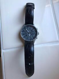 Genuine Links of London men's chronograph watch leather strap
