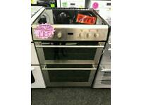 STOVES 60CM ELECTRIC DOUBLE OVEN COOKER IN SILVER