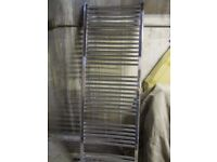 Chrome, curved Towel Radiator 600mm x 1700mm. Excellent condition