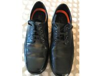 m&s collection extra/wide leather shoes airflow size 12 -black v good condition