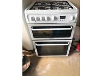 Hotpoint double gas cooker 60cm