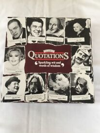 QUOTATIONS game £4