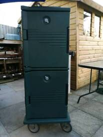 Insulated food transport cart non electric