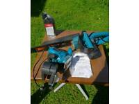 Electric chainsaw and sharpener