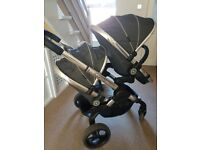 Icandy peach blossom twin buggy in truffle