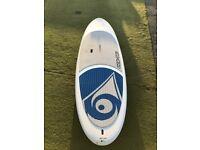 Bic sport board, and fibreglass paddle