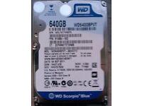 640gb sata 2.5 laptop drive