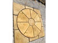 Concrete flags patios paving stone circle