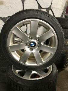 225 45R 17 NANKANG SNOW VIVA & 205 45R 17 PIRELLI SOTTO ZERO RUN FLAT WINTER SNOW TIRES ON BMW RIMS 5X120