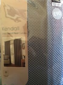 Brand new- Kendall lined pencil pleat curtains