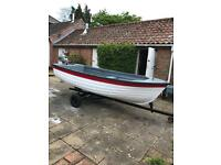 13ft clinker style fishing boat / dingy / dory / outboard engine