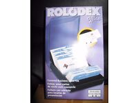 Rolodex Covered Business Card File with 100 Sleeves & A-Z Index Tabs