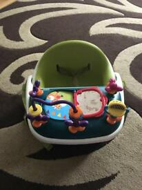 Mamas and papas baby booster seat with tray