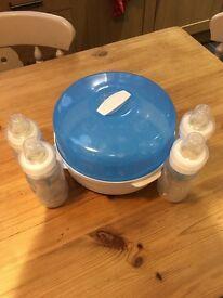 Dr Brown baby bottles and microwave steriliser