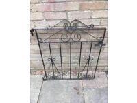 Small wrought iron garden gate