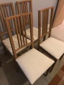 4 Ikea oak dining chairs