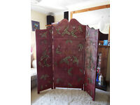 painted screen room divider