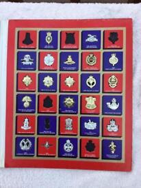 Texaco regimental badge collection - Circa 1970's