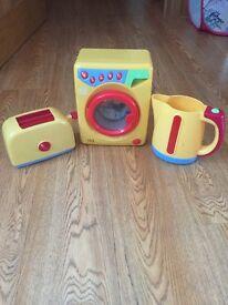 Toaster, Washing Machine & Kettle Set