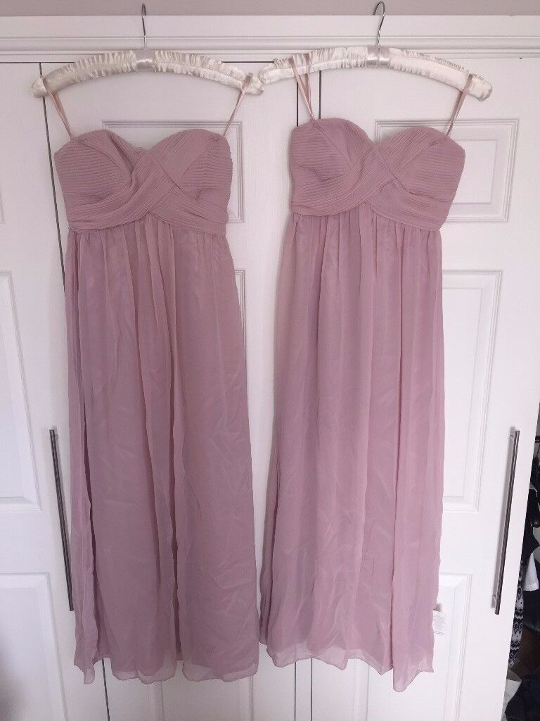 *Never been worn* Blush pink maxi bridesmaid dresses - size 8 & size 10 - labels still on