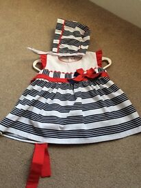 Spanish baby dress and bonnet size 12 months