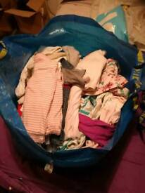 Ikea bag of girls 3-6 months clothes