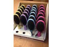 BULK LOT - 22 BRAND NEW HAIR BRUSHES - DIFFERENT COLOURS