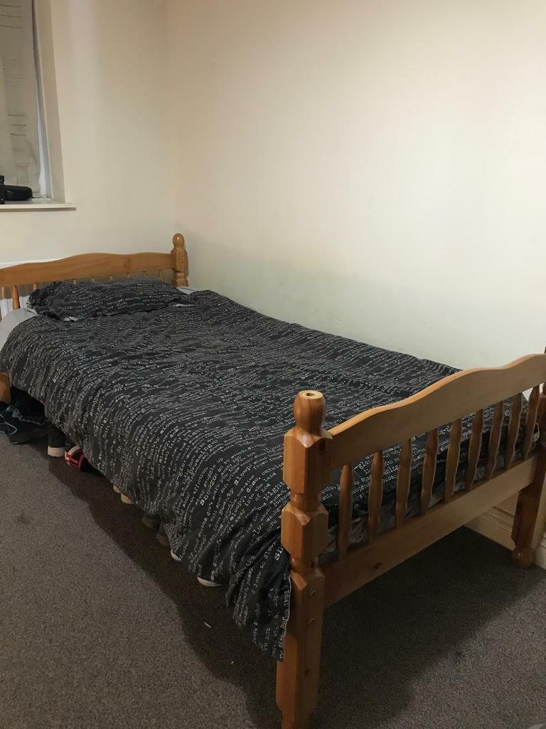 1wooden single bed frame only