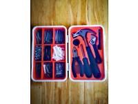 17 piece tool kit + screw and plug set
