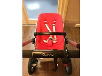 Quinny Buzz 3 in red, carrycot and raincovers