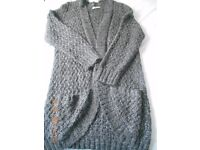 LADIES TU Long length Jacket/Cardigan Size 20 in Grey