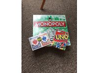 Monopoly uno and cards