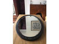REDUCED!! Large Oval (hardwood framed) Mirror