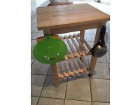 Kitchen island trolley bench