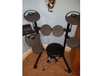 YAMAHA DTX Electric Drum Kit with Stool
