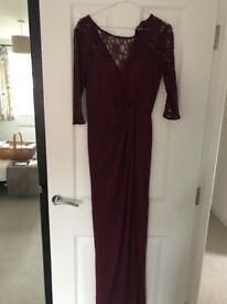 Full length burgundy dress