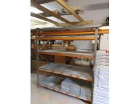 HEAVY DUTY RACKING UNIT - 4 BEAM SETS 1000kg CAPACITY PER LEVEL - ADAPTABLE TO EXTEND FURTHER