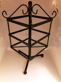 """Earring stands x 2 - take 48 pairs each. Black metal rotating 9.5"""" x 5"""""""