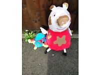 Muddle puddle Peppa Pig and Woolly from Woolly and tig.
