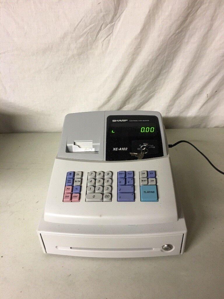 Sharp XE- A102 cash register - grey