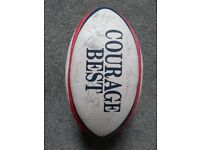 Signed England Rugby Ball circa 1995