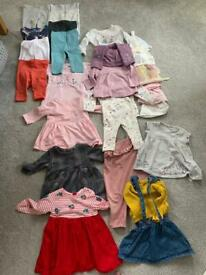 Various baby girl clothes 3-6 months for sale