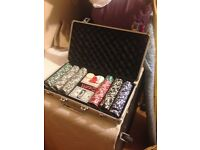 Poker set and dice 300 chips