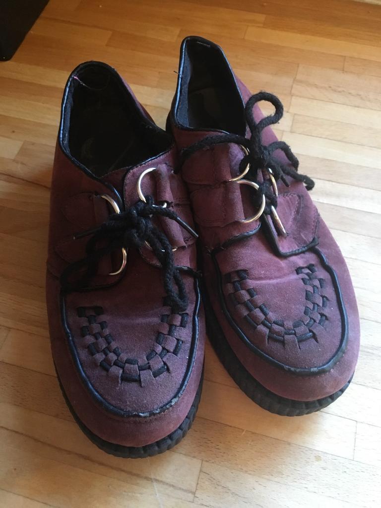 Size 3 maroon DM type shoe