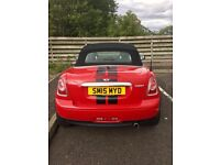 Red Mini Roadster Cooper Convertible