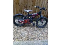 kids star wars bike with 16 inch wheels in good working order