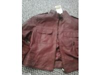 Ladies mulberry leather jacket size pitite 14