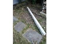 7ft concrete fence post